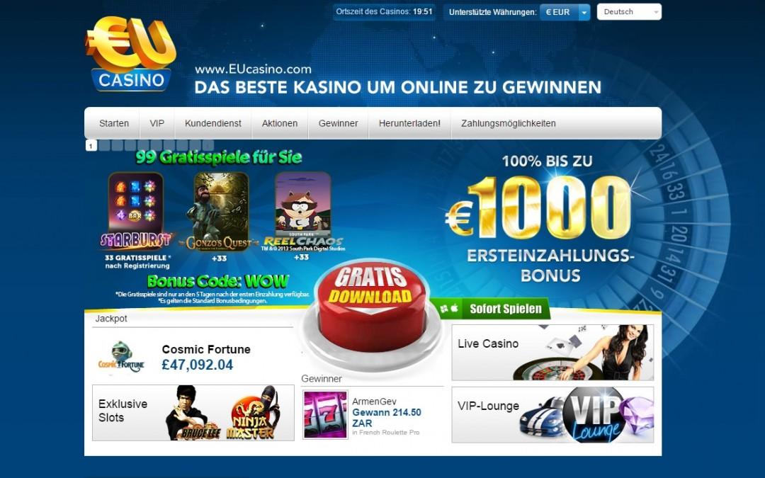 EUcasino casino bewertung | ohneeinzahlung.de