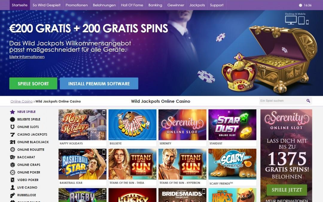 Wild Jackpots Casino bewertung | ohneeinzahlung.de