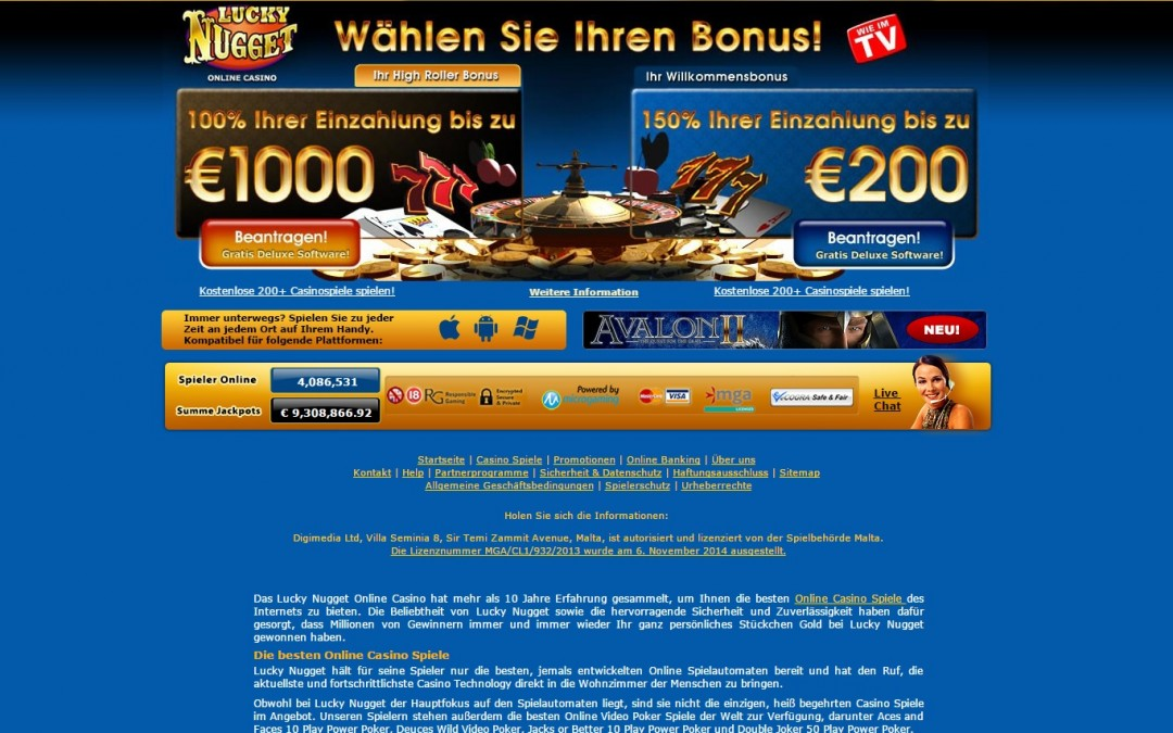 Nugget casino poker