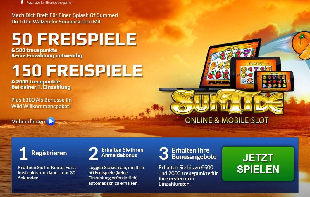 Go Wild Casino 50 freispiele Sun Tide