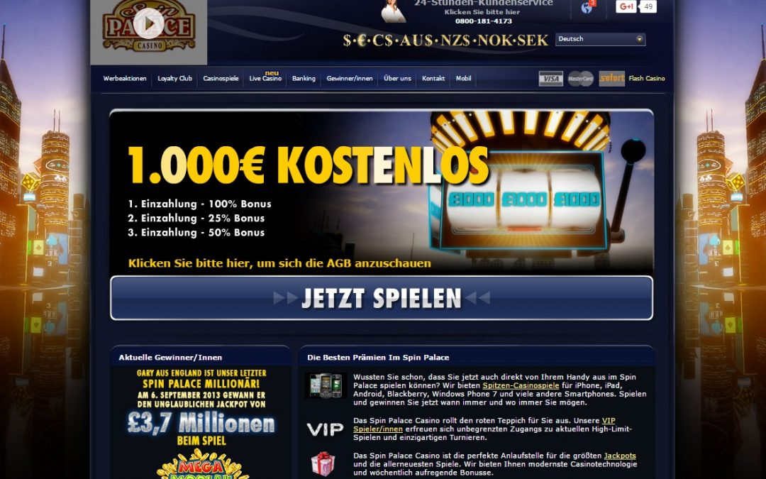 Spin Palace casino bewertung | ohneeinzahlung.de