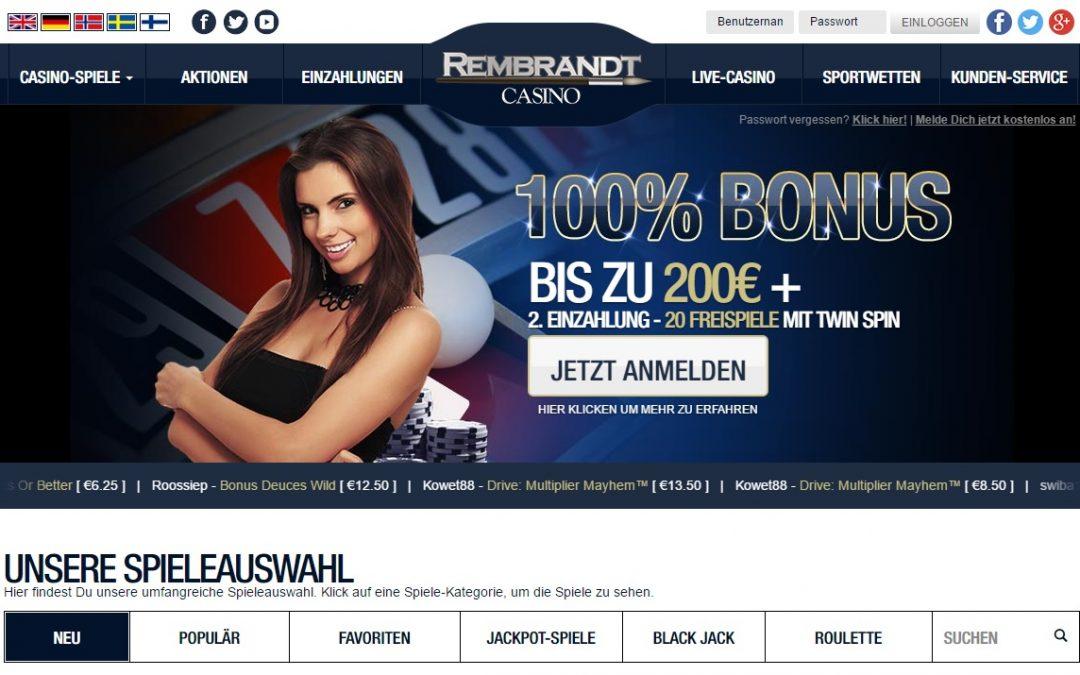 Rembrandt Casino bewertung | ohneeinzahlung.de