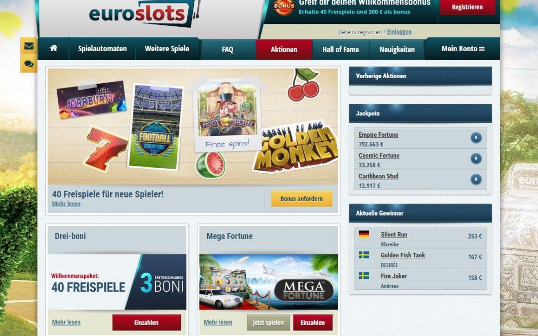 Euroslots Casino bewertung | ohneeinzahlung.de