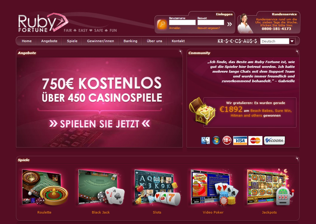 Ruby Fortune Casino Bewertung