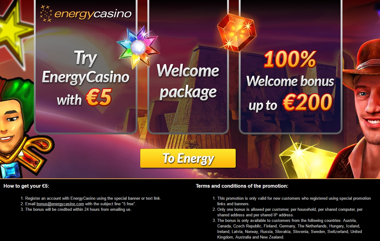 energy casino 5 euro bonus
